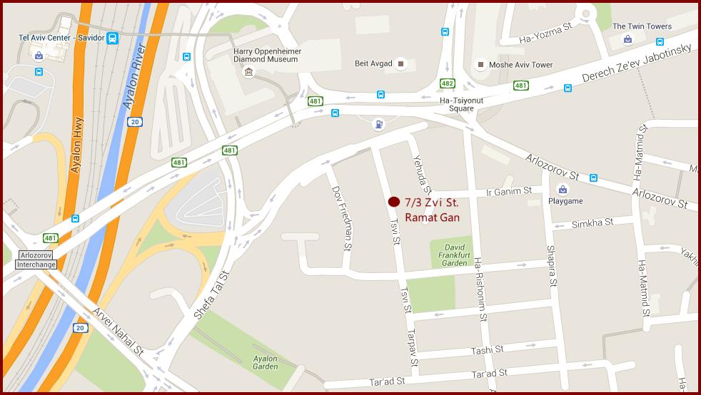 Contact Information - Ramat gan map